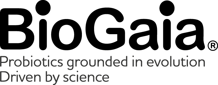 BioGaia logo tagline left-aligned