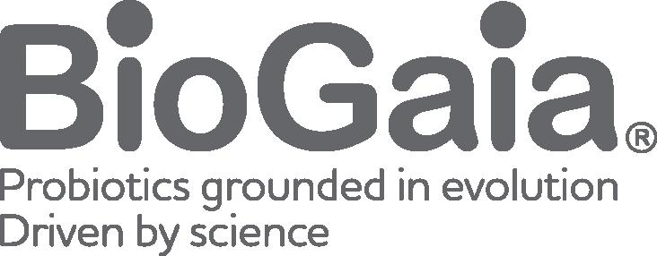 BioGaia logo tagline left aligned
