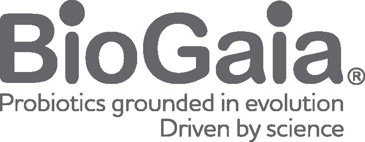 BioGaia logo tagline right aligned