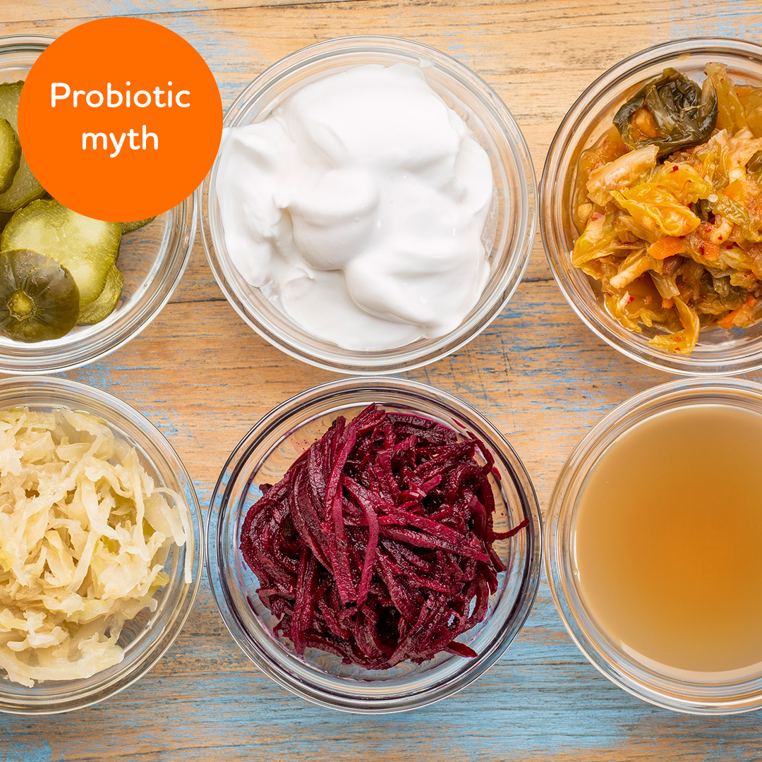 Probiotic myth: Eating healthy food will give me enough probiotics