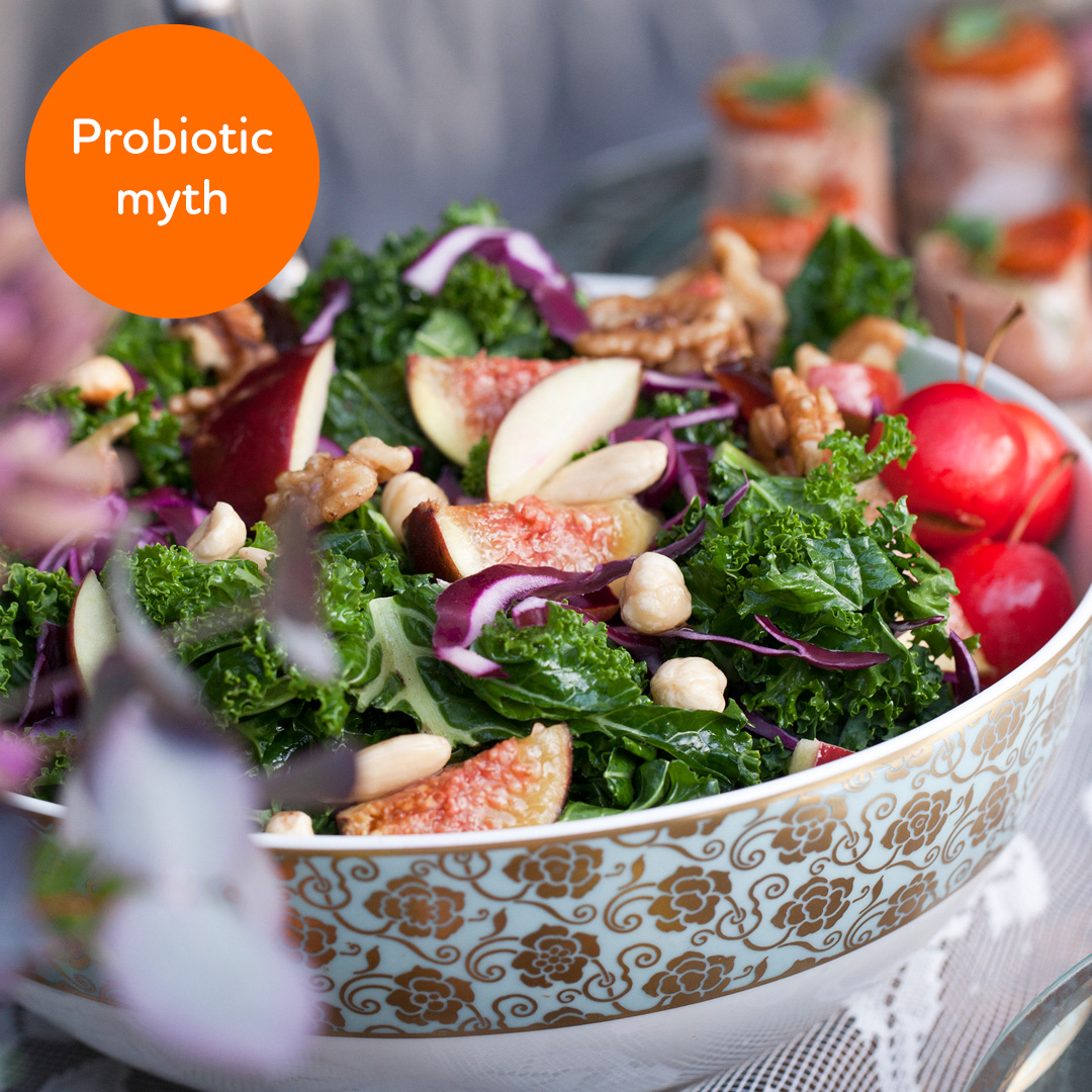 Probiotic myth: Prebiotics and probiotics are the same thing