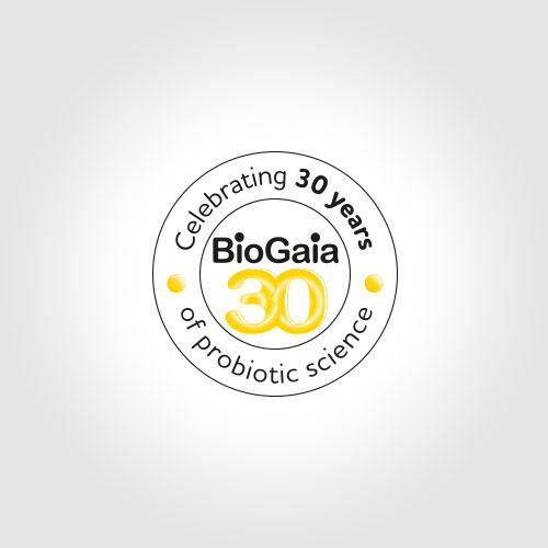 BioGaia 30 years stamp